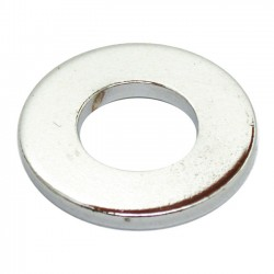 CHROME FLAT WASHER 1/2 INCH