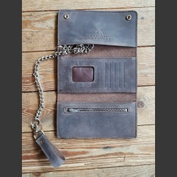 BIKER WALLET BROWN