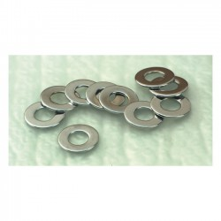 CHROME FLAT WASHERS 7/16 INCH