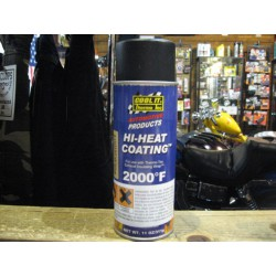 Black Hi-heat coating for exhaust wrap