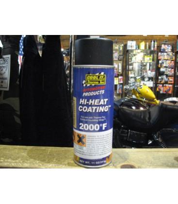 Black Hi-heat coating for exhaust wrap