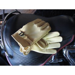 CANADIAN DEERSKIN GLOVES LIGHT BROWN XL