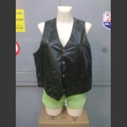 Black Leather vest Large